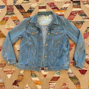 H&M Studio Light Wash Denim Jacket, 10